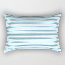 Oktoberfest Bavarian Blue and White Large Mattress Ticking Stripes Rectangular Pillow