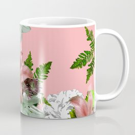 LILY PINK AND WHITE FLOWER Coffee Mug