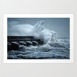 South Coast Storm Art Print