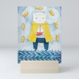The Sailor and His Ship Mini Art Print