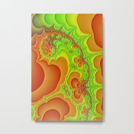 abstract art fractal art Psychedelic green poster Metal Print