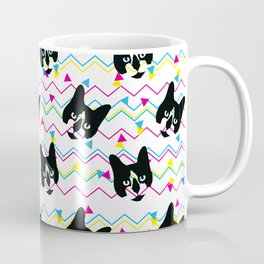 CMYK Cat Pattern Coffee Mug