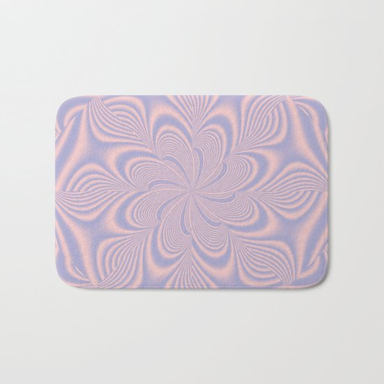 Whirly Bloom Fractal in Rose Quartz and Serenity Bath Mat