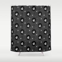 edward scissorhands Shower Curtains featuring Edward Scissorhands by Joana Shino