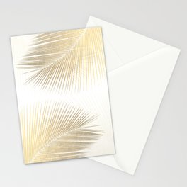 Palm leaf synchronicity - gold Stationery Cards