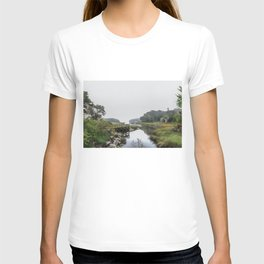 Early Autumn Fog on the Little River T-shirt