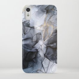 Calm but Dramatic Light Monochromatic Black & Grey Abstract iPhone Case