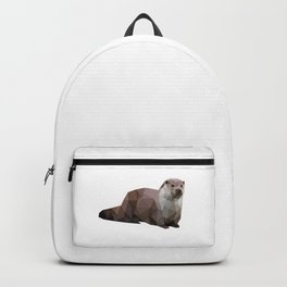 Otter Low poly Animal Backpack