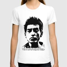 Bob Dylan Things Have Changed MEDIUM White Womens Fitted Tee