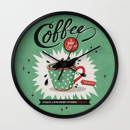 Saved By Coffee Wall Clock