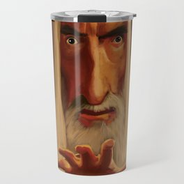 Caricature of Christopher Lee Travel Mug
