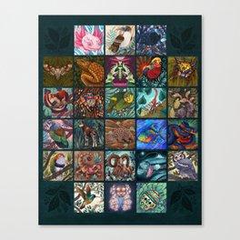 The Unusual Animal Alphabet Canvas Print