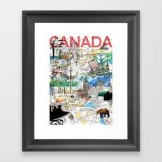 Canada (portrait version) Framed Art Print