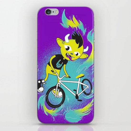 Monster Pixie Riding a Fixie iPhone & iPod Skin