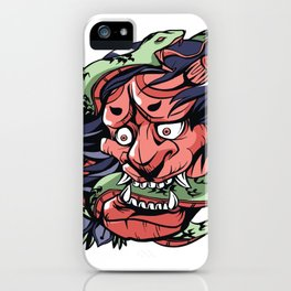 SNAKE DEMON ART DESIGN iPhone Case