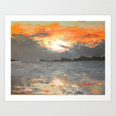 A Mackinac Island Sunset Art Print