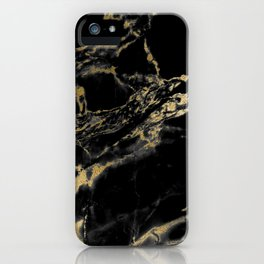 marble black gold iPhone Case