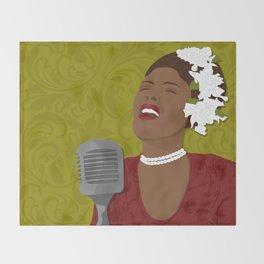 Billie Holiday | Bad Ass Women Series Throw Blanket
