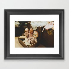Play with us Framed Art Print