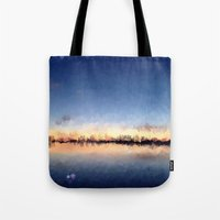 skyline Tote Bags featuring Skyline by kelly*n photography