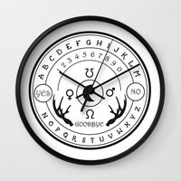 ouija Wall Clocks featuring Ouija by ANOMIC DESIGNS