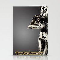 c3po Stationery Cards featuring C3PO by KL Design Solutions