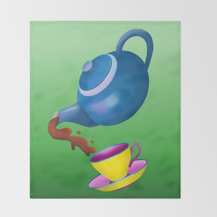 Teapot Throw Blanket