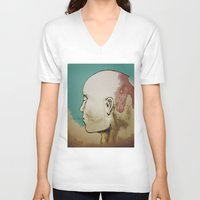 human V-neck T-shirts featuring Human by Tyler Hayes