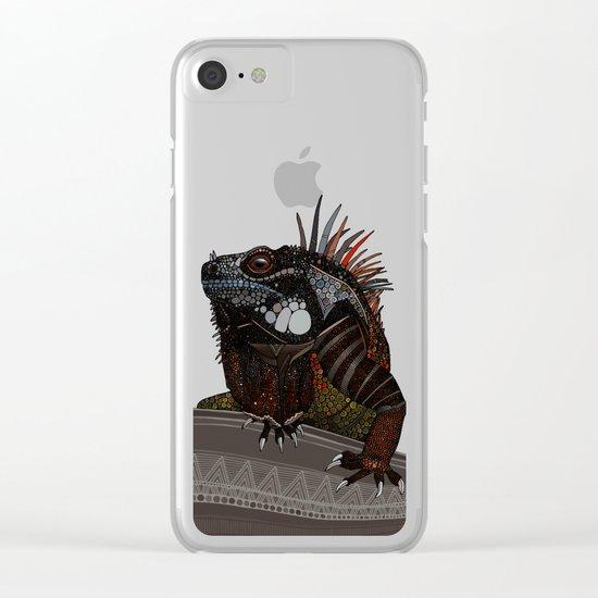 iguana ecru Clear iPhone Case