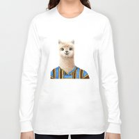 alpaca Long Sleeve T-shirts featuring Alpaca by Jenna Caire