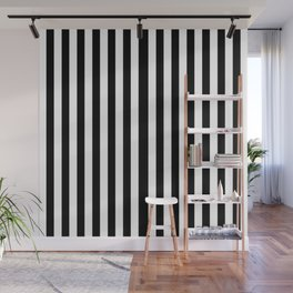 Black White Stripe Wall Mural