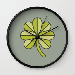 Seven-Leaf Clover Wall Clock