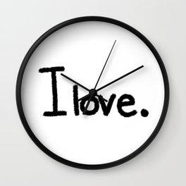 I love. Wall Clock