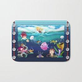 FUN•tastic Ocean ~ Colorful FUN & Friends Line Bath Mat