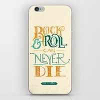 neil young iPhone & iPod Skins featuring Rock & Roll Can Never Die - Neil Young by courtneyblair