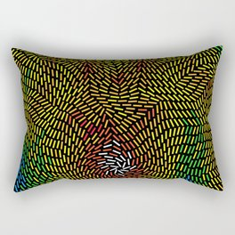 Abstract digital life Rectangular Pillow