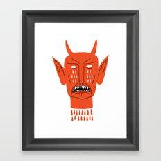 Devil's Head Framed Art Print