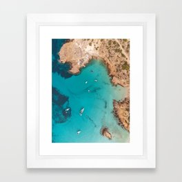 Aerial Ibiza Coast Framed Art Print