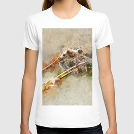 "Dragonfly ""Sympetrum striolatum"" - watercolor T-shirt"