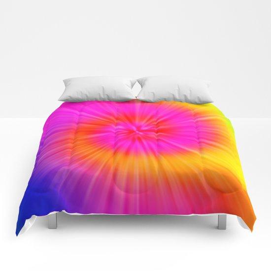 TIE DYE #1 (Rainbow Colors) Comforters