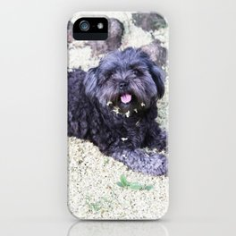 puppy blossom iPhone Case