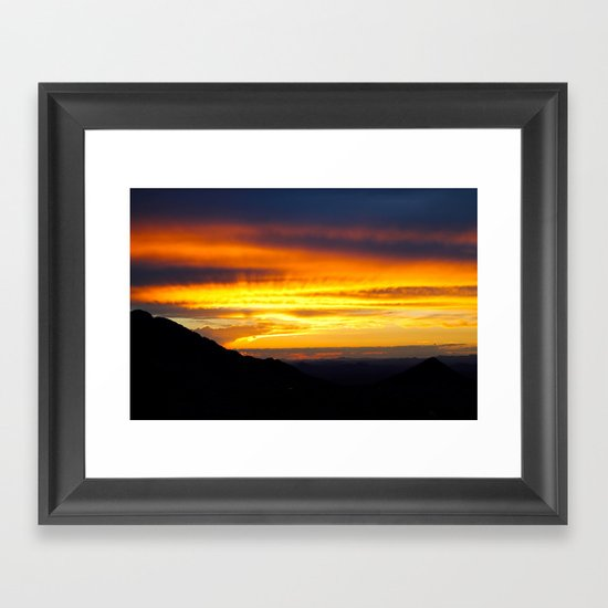 Setting of the Sun Framed Art Print