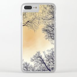 Infrared Forest Clear iPhone Case