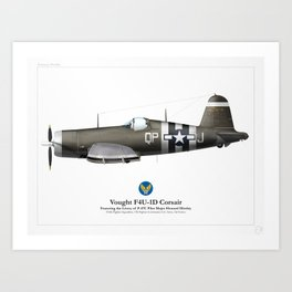 F4U-1D Corsair - Army Art Print