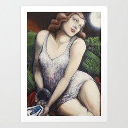 The High Priestess - Tarot Card Art Art Print