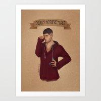Cuddly Motherf*cker Art Print