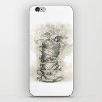bath iPhone & iPod Skins featuring Tea bath by Julia Kisselmann