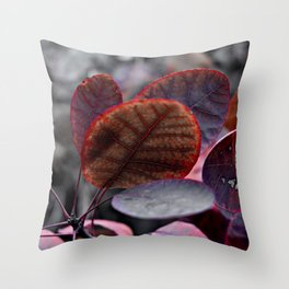 Bleeding Red Leaves Throw Pillow