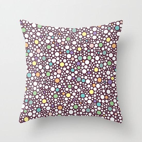 pastel puzzle bubble 2 Throw Pillow