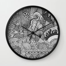 Doodle 3 Wall Clock